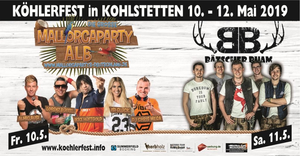 Programm des diesjährigen Köhlerfest in Kohlstetten